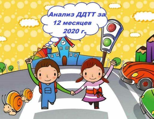 Информация по состоянию детского дорожно-транспортного травматизма на территории Свердловской области за двенадцать месяцев 2020 года